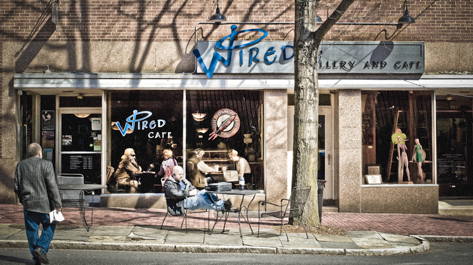 Wired Cafe and Gallery. Bethlehem Pennsylvania