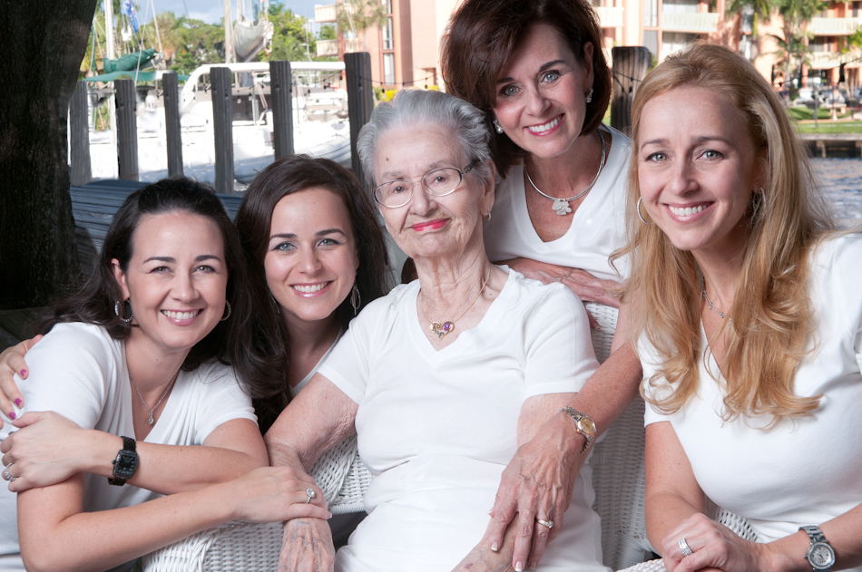 Family Portrait of Three Generations. Boca Raton, Florida