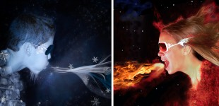 Fire And Ice Portraits