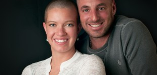 Mia and Aaron shaved their heads to raise funds for pediatric cancer research.